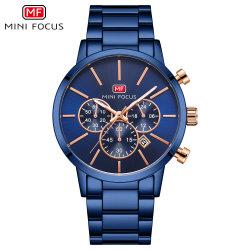 Minifokus-Luxuxart-Silber-überzogener Kristall-Kasten-Edelstahl-Form-Firmenzeichen-neue Art-Mann-Uhren mit preiswertem Preis