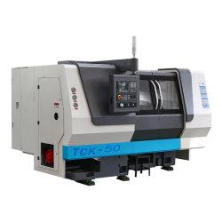 Mini CNC Precision Plana/Slant torno rotativo Center cortar metal Ferramenta torno mecânico torno mecânico com sistema Fanuc Tck50A