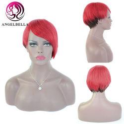 Parrucche fatte a macchina piene diritte delle donne dei capelli umani di densità 1b-Red# della parrucca 130% Remy di Short brasiliano dei capelli di Angelbella per usura di estate