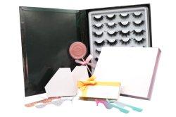 Comercio al por mayor venta en caliente de 25mm Vegan aplicador de seda sintética Corea PBT Premium de lujo de fibra de latigazos Fake Strip pestañas