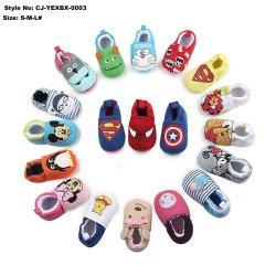 Primavera e Outono de novo tecido de malha de desenhos animados calçado elástico grosso Sapatas Bebé calçado para criança