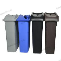 Benutzerdefinierte Farbe Indoor Slim PP Abfalleimer Kunststoff Abfalleimer