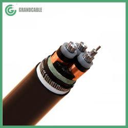 كبل طاقة معزول XLPE بقدرة 15kV 3 Core 120m2 مصفحة أسلاك مصفحة من الصلب SWA