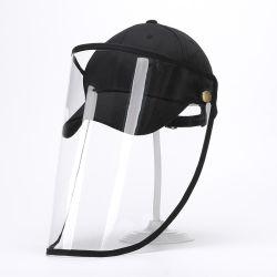 Proteger a protecção da pac Boné com Anti-Spitting Removível Aiti Saliva Apatter Máscara Plástica Facial do Visor de Proteção da Tampa