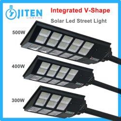 Tous intégrés dans un 500W intérieur extérieur de l'éclairage Lampe à économie d'énergie solaire rue LED du panneau LED IP65 des feux de route Jardin d'inondation plafond Feux d'accueil de triage d'auvent