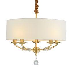 Современный роскошный дизайн LED подвесной светильник с ткань тени