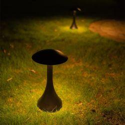 [3000ك] [7و] رمل أسود [بولّرد] درب فطر حديقة ضوء