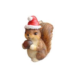 Ornamenti d'attaccatura animali delle decorazioni di natale dello scoiattolo e dell'istrice del Raccoon della moffetta di Fox di natale di Polyresin