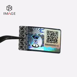 Etichetta ologramma anti-fiocco con codice QR per animali da compagnia color argento Stampa