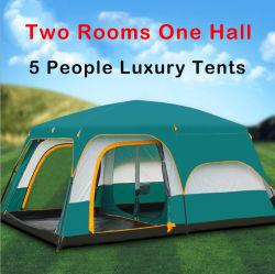 Tienda de camping al aire libre espesada con dos habitaciones y un salón 8-10 Personas's Protección contra la lluvia y Sol Playa Camping Multi-Person Tienda de Ocio