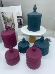 Fabricant de gros de l'Europe Direct Style Bougie en verre de couleurs titulaire, Bougie en verre, jar contenant en verre, de VERRE Pot de fleur, le verre Ware, verre de l'artisanat