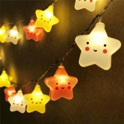 غرفة عيد الميلاد بمصباح LED صغير الحجم والمصنوع من خمسة مصابيح ستار لانترن مصابيح سلسلة الستائر في الشرفة