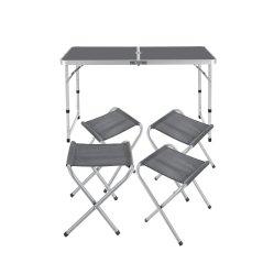 Pavilhão de Exposições de promoção exterior dobrável mesa e cadeira combinação de ligas de alumínio portátil simples Mesa de piquenique
