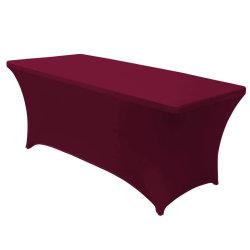 La vente de bien dans le monde entier table personnalisée chiffon monté Spandex nappes rectangulaire