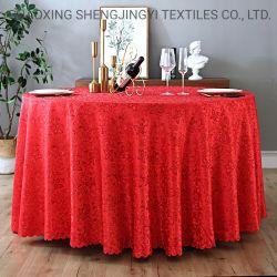 Venda quente Hotel banquetes de poliéster de espessura de estilo europeu toalhas de mesa redonda