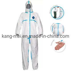 Защитный костюм колпачковая Coverall одноразовые защитную одежду Мужчины Женщины Рабочая одежда для женщин и