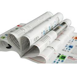 Stampa all'ingrosso su ordinazione dell'opuscolo di servizio di stampa di disegno del documento lucido di colore completo