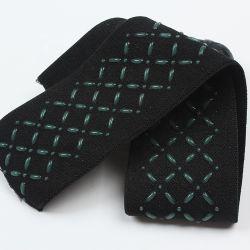 Bande élastique tissé de polyester en vrac avec logo gaufré personnalisé de silicium