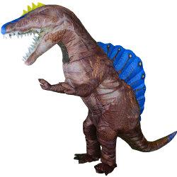 Коричневый Spinosaurus надувной костюм Рождество Хэллоуин взрослых фантазии динозавров надувной одежду Dance Косплей