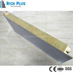 لوحات حائط الصوف المعدنية عالية الكثافة ذات تقدير لساعتين من الحريق Rockwowing/Rock Wool Sandwich Panel للبيع