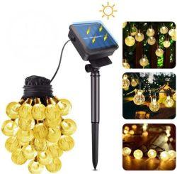 Wholesale decorativo exterior LED de alambre de cobre vacaciones Cadena Colgante Solar lámpara de luz de Navidad de fiesta