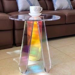 Usine Rainbow personnalisables acrylique Table à café de café petit côté Table