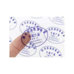 La impresión de logotipo personalizado claro transparente de PVC adhesivo de vinilo autoadhesivo Etiqueta