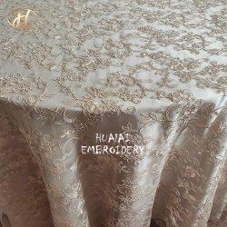 Shaoxing Motif Bordados Casamento Champanhe Mesa Redonda Pano para o Banquete