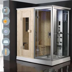 Casa en la sauna seca Baño de vapor baño de ducha
