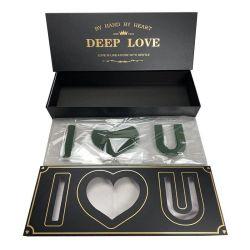 Groothandel Prijs Luxe Mom papier Bloemendoos voor Moederdag Gift, Rectangular I Love You Shape Gift Box voor Soap Rose Head