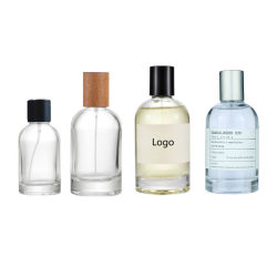 En la surtida ronda 30ml 50ML 100ml Botella de Perfume de vidrio vacía con tapas de madera Metal Plástico