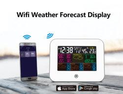 Smart радио управления цифровой цветной экран WiFi станции в холодную погоду прогноз часов в зависимости от температуры и влажности на дисплее