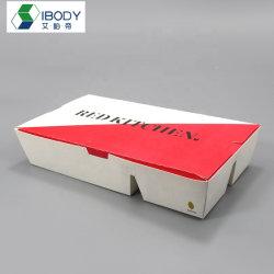 El fondo cóncavo cinco papel Grid comer sushi Bento Box Caja de papel desechable para la venta