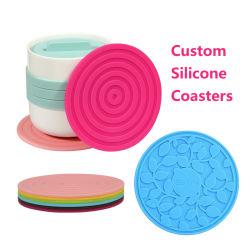 Дружественность к окружающей среде индивидуального тепла Resistan силиконового герметика Coaster коврик чашки кофе