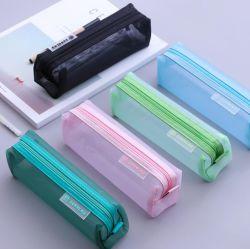 Venda por grosso de artigos de papelaria Office presente de promoção de Alimentação suporte de caneta de malha de Saco da caixa de lápis