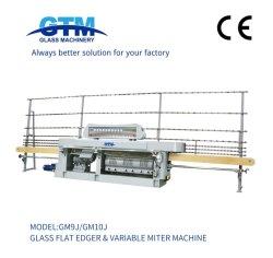 Gtm 10 двигателей плоского стекла и турбонагнетателя с изменяемой Miter Edger края формы Sandbelt карандашом Beveling полировка шлифовки обработки мойка вырубка поломки механизма окантовки
