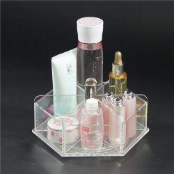ホーム、浴室のためのディバイダが付いている卸し売りカスタム回転アクリルの構成表のオルガナイザーの皿