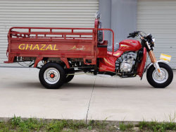 Triciclo de carga de gasolina de tres ruedas con MP3