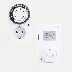 卸売用欧州標準スマートソケットスイッチング電力コンバータ、 24 時間 予約リサイクルタイマー