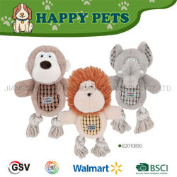 Elefante del leone della scimmia del giocattolo dell'animale domestico