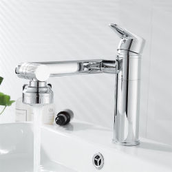 浴室のクロム単一のハンドルの洗面器のコック