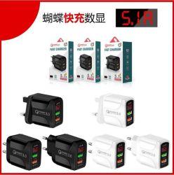 visor digital LED preço barato carregador de parede USB rápido para Carregador de telemóvel