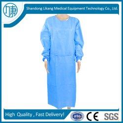 외과 의류 운영 옷을 입는 직업적인 도매 처분할 수 있는 PP +PE 두건이 있는 의학 보호의 격리