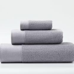Asciugamano in cotone 100% Pass Oeko-Tex 100 all'ingrosso colore pieno Set per bagno