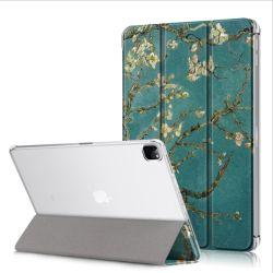 علبة جديدة شفافة من جلد اللوح الورقي القابل للطي على شكل البولي يورثان المتلدن بالحرارة (TPU) لجهاز iPad PRO 12.9 2021 2020 2018