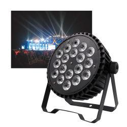 DMX boda 18x10W RGBWA 5en1 plana LED Slim Luz PAR