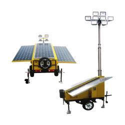 La minería de la construcción de faroles de alumbrado LED el mástil telescópico de la Torre de Luz Solar nuevo diseño del vehículo móvil de alta directamente desde el suministro Manufature Quanlity