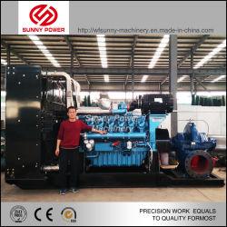26polegadas centrífugas horizontais bomba de água movida pela 1108kw Weichai Motor Diesel.