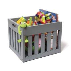 Livre blanc de la Caisse en bois jouet Storage