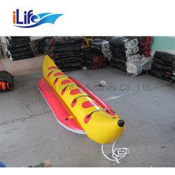 Ilife 호수 팽창식 수중 스포츠를 위한 대중적인 최신 PVC 유형 황색 팽창식 바나나 보트는 3 사람을%s 바나나 보트를